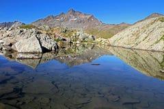Lago sulla parte superiore Fotografia Stock