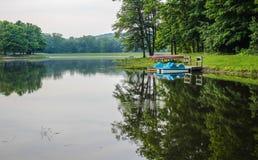 Lago summer em parques estaduais de Ohio fotografia de stock royalty free
