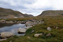 Lago summit Imagens de Stock