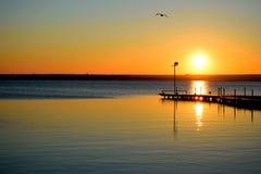 Lago sundown Imagen de archivo