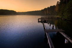 Lago sunrise imagens de stock royalty free
