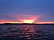 Lago sunset imagen de archivo