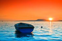 Lago sunset Imagens de Stock