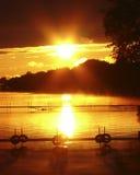 Lago sunset Imagem de Stock Royalty Free