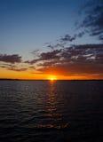 Lago sunset Fotografía de archivo