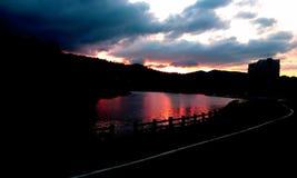 Lago sunset Imagem de Stock