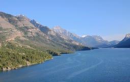 Lago superior del waterton Fotos de archivo libres de regalías