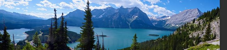 Lago superior Kananaskis, Canadá Foto de Stock