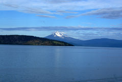 Lago superior klamath, Oregon central del sur, los E.E.U.U. imagenes de archivo
