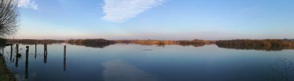 Lago superior parco del Mincio Mantova Itália foto de stock