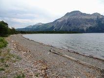Lago superiore Waterton nel parco nazionale dei laghi Waterton in Alberta Canada Fotografia Stock