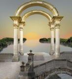 Lago surreale fotografia stock libera da diritti