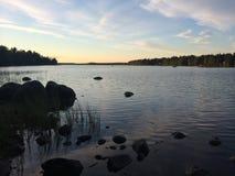 Lago svedese Fotografia Stock