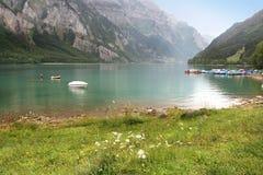 Lago svizzero della sorgente Fotografia Stock Libera da Diritti