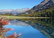 Lago svizzero di autunno Fotografie Stock Libere da Diritti