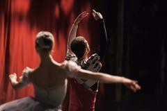 Lago swan di balletto Ballerine nel movimento Immagini Stock Libere da Diritti