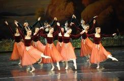 Lago swan di ballo-balletto del handshandle di scossa fotografie stock libere da diritti