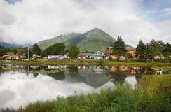 Lago swan, Sitka, Alaska imágenes de archivo libres de regalías