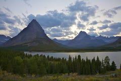 Lago Swiftcurrent immagini stock libere da diritti