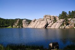 Lago Sylvan, il Dakota del Sud fotografia stock