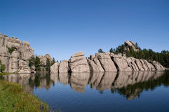 Lago Sylvan, South Dakota imagem de stock