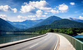 Lago Sylvenstein Imagens de Stock