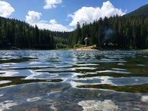 Lago Synevir Fotografie Stock