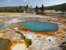 Lago térmico colorido sumário em Yellowstone Fotografia de Stock Royalty Free