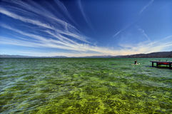 Lago Tahoe Fotografia Stock