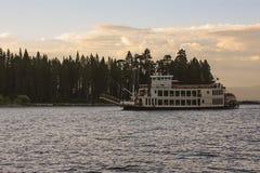 Lago Tahoe al crepuscolo Immagine Stock
