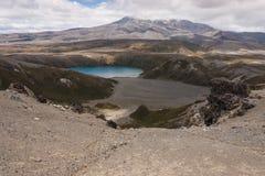 Lago Tama nel parco nazionale di Tongariro Fotografia Stock Libera da Diritti