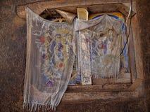 LAGO TANA, ETIOPIE, o 21 de abril 2019, fresco religiosos na parede de Tana Hayk Eysus United Monastery, o 21 de abril 2019, lago fotografia de stock royalty free