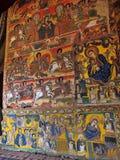 LAGO TANA, ETIOPIE, o 21 de abril 2019, fresco religiosos na parede de Tana Hayk Eysus United Monastery, o 21 de abril 2019, lago fotos de stock royalty free