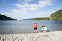 Lago Tarawera fotografia stock