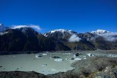 Lago Tasman di Aoraki Mt cuoco Immagini Stock Libere da Diritti
