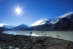 Lago Tasman di Aoraki Mt Cuoco National Park Immagini Stock Libere da Diritti