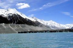 Lago Tasman, Nueva Zelanda Imagen de archivo libre de regalías