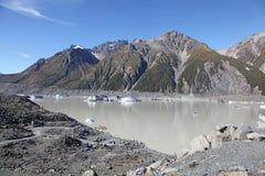 Lago Tasman - Nueva Zelanda Foto de archivo libre de regalías