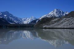 Lago Tasman, Nuova Zelanda. Fotografie Stock Libere da Diritti
