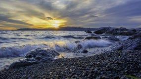 Lago Taupo Imagenes de archivo
