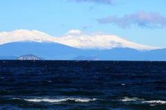 Lago Taupo y parque nacional de Tongariro Imágenes de archivo libres de regalías