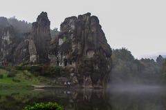 Lago tedesco di autunno della natura Immagini Stock