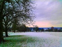 lago tedesco nell'inverno immagini stock