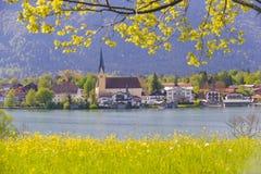 Lago Tegernsee in Baviera Fotografie Stock Libere da Diritti