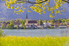 Lago Tegernsee em Baviera Fotos de Stock Royalty Free