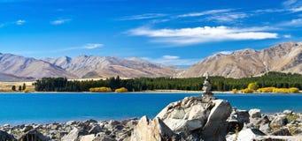 Lago Tekapo imagem de stock