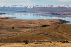 Lago Tekapo in alpi del sud, Nuova Zelanda Immagini Stock Libere da Diritti