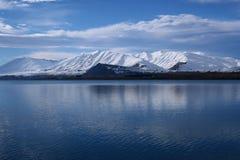 Lago Tekapo in inverno fotografia stock