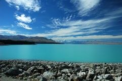Lago Tekapo, Nova Zelândia Foto de Stock Royalty Free