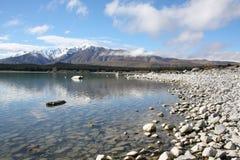 Lago Tekapo Nuova Zelanda Fotografie Stock Libere da Diritti
